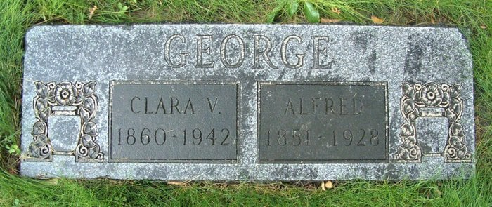 Alfred George and Clara V gravestone