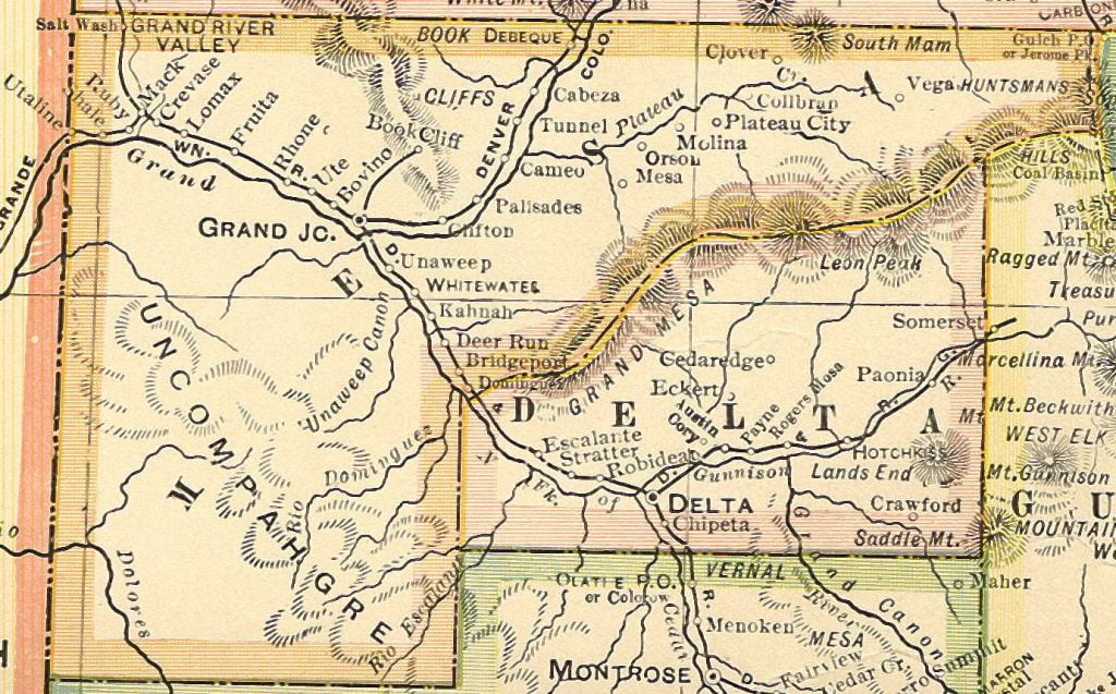1920 Mesa County Colorado Map